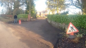 Road repairs in Brampton Cumbria