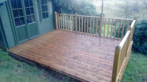 Decking installment in Cumbria