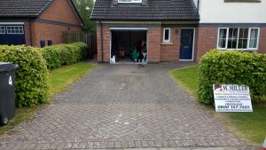 Paved Driveway Before Cleaning Carlisle