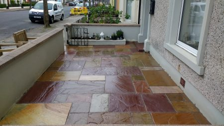 Patio Sealing Indian Sandstone Silloth