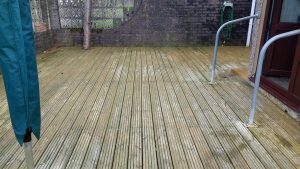 Before Decking Patio