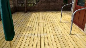 After Decking Patio CLEANING & Oiling Frizington