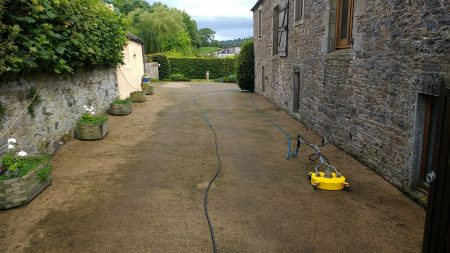 Resin Driveway Before Cleaning