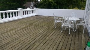 Veranda Decking Before