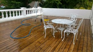 Veranda Decking After Cleaning Gosforth