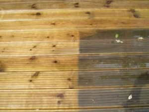 Decking Cleaning and oiling The Scottish Borders