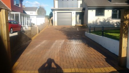 After Driveway Cleaning Stainburn