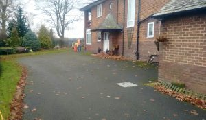 Tarmac Driveway Before Cleaning & Surface Dressing