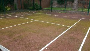 Before Tennis Court Cleaning