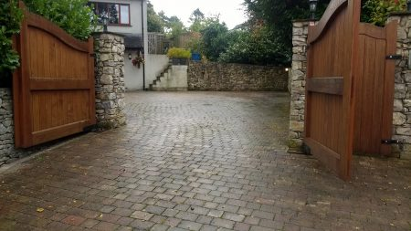 Before Large Driveway Clean