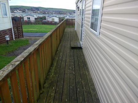 Before Decking Cleaning Seacote Park Whitehaven