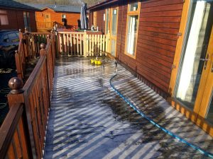 Decking During Cleaning