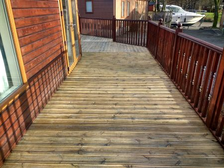 Decking Cleaning & Oiling White Cross Bay Windermere