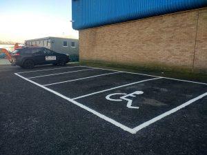 Carpark White Lining Carlisle