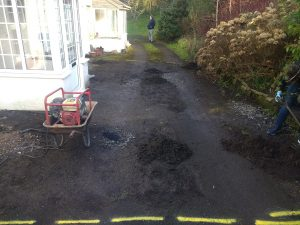 Driveway Being Prepared Via Cleaning
