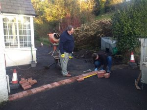 Brick Borders Being Installed