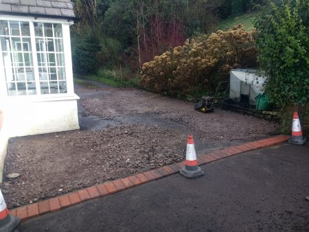 Driveway Being Reinstated with Sub Base