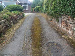 Potholed driveway