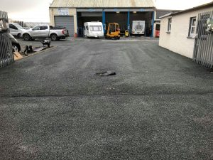 After forecourt repairs and surface dressing Penrith